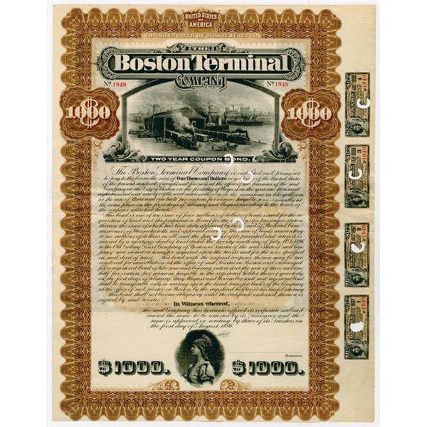 Boston Terminal Co., 1896  U/C Bond.
