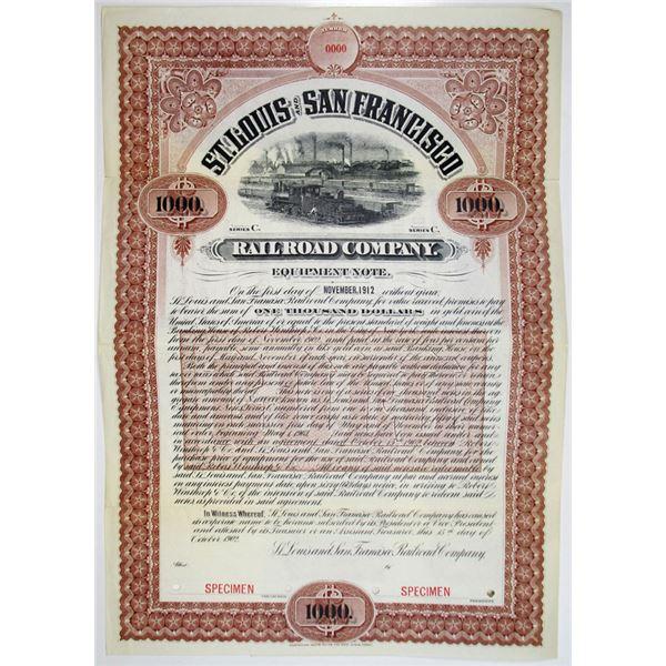St. Louis and San Francisco Railroad Co. Equipment Note, Series C, 1902 Specimen Bond