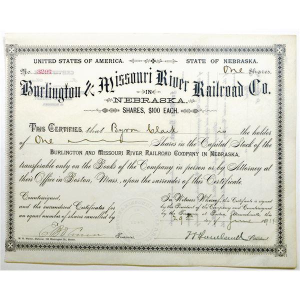 Burlington & Missouri River Railroad Co. in Nebraska, 1914.