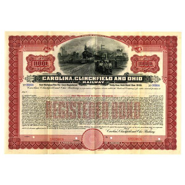 Carolina, Clinchfield and Ohio Railway, 1908 Specimen Bond
