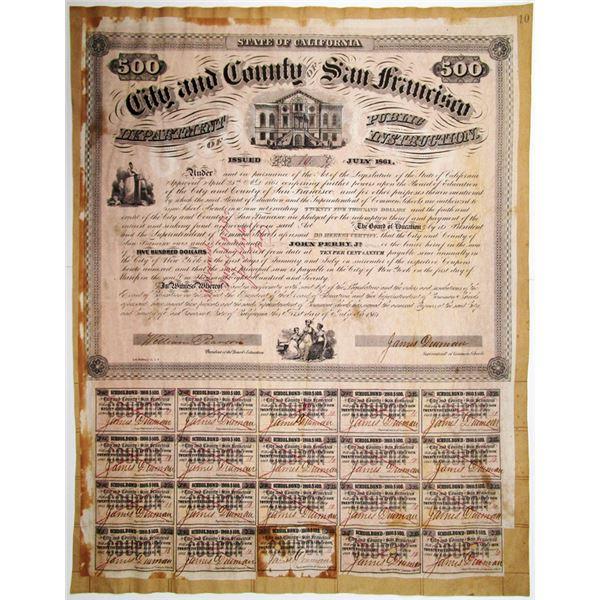 City and County of San Francisco, 1861 I/C Bond.