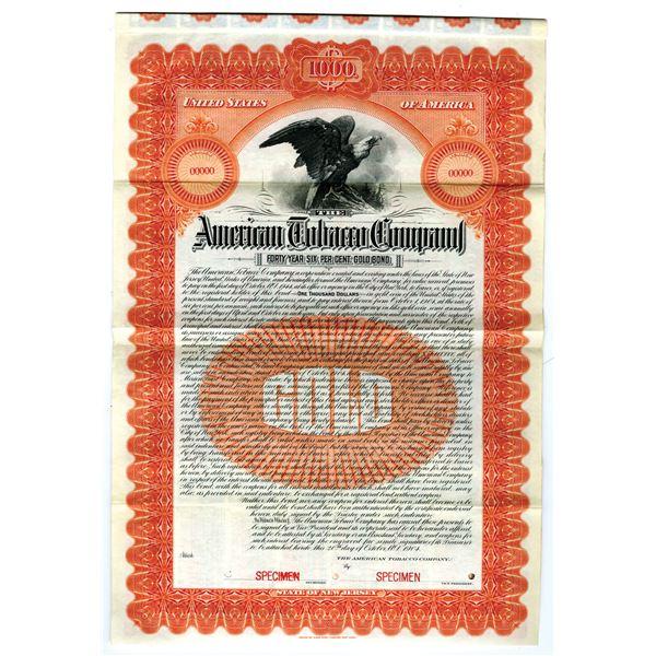 American Tobacco Co., 1904 Specimen Gold Bond