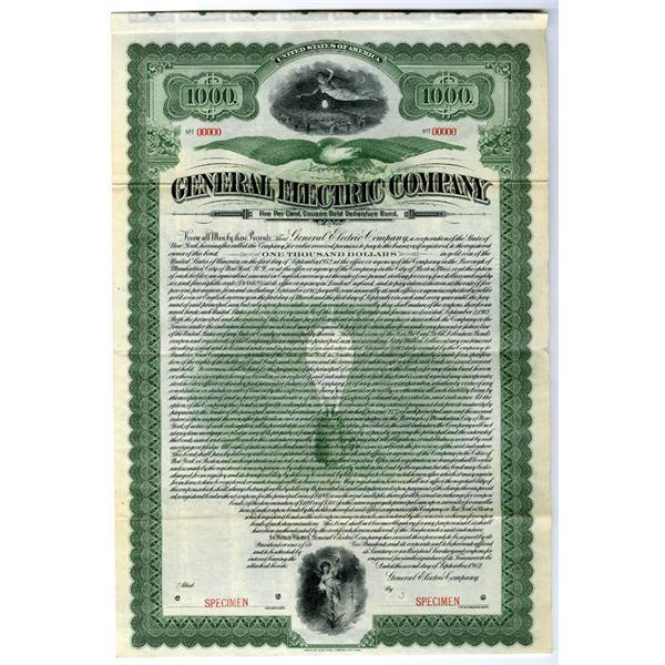 General Electric Co., Spectacular 1912 Specimen Bond