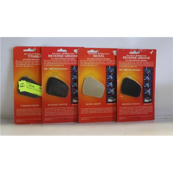 SPIN DOCTOR GOLF CLUB INSERTS