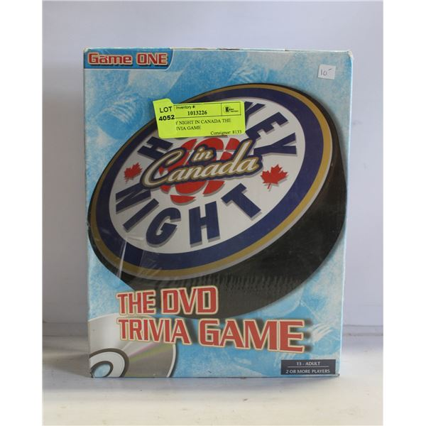 HOCKEY NIGHT IN CANADA THE DVD TRIVIA GAME