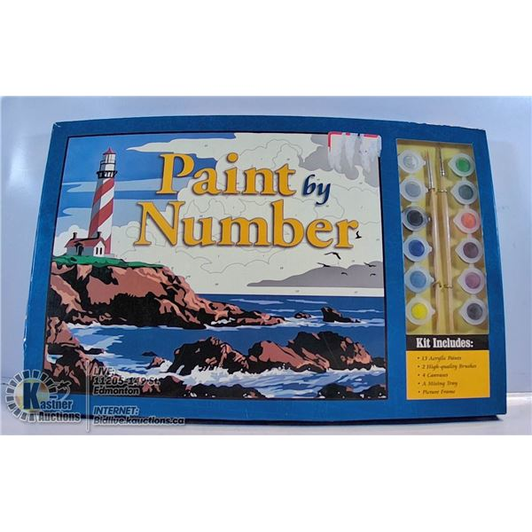PAINT BY NUMBER KIT AND 2 PADS OF DRAWING PAPER
