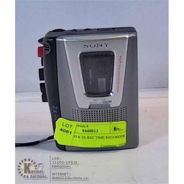 SONY V-O-R 2X REC TIME RECORDER