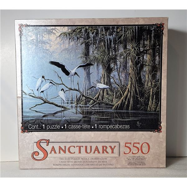 7)  FACTORY SEALED 550 PCE PUZZLE WITH