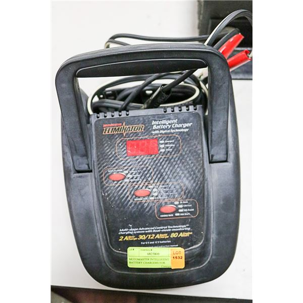 MOTOMASTER INTELLIGENT BATTERY CHARGERS FOR