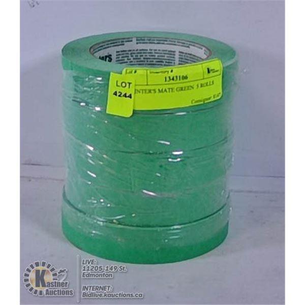 PAINTER'S MATE GREEN  5 ROLLS