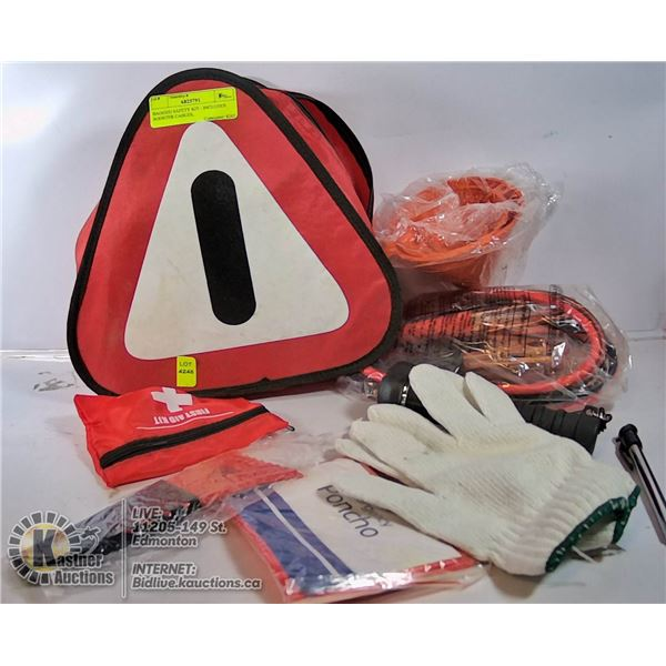 BAGGED SAFETY KIT - INCLUDES BOOSTER CABLES,