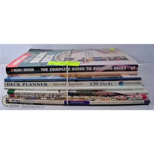 LOT OF 8 DECK/PATIO RENOVATION/PLANNING BOOKS