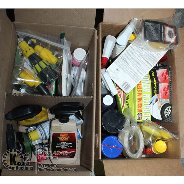 2 BOXES OF MISCELLANEOUS CLEANERS