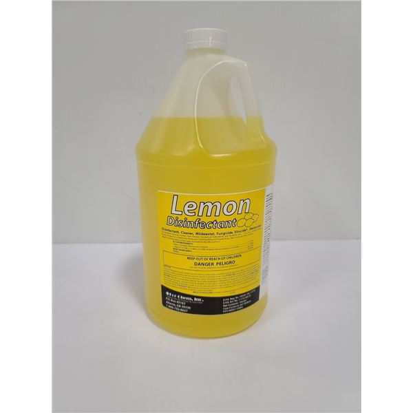 1 GALLON OF LEMON CLEANER AND DISINFECTANT