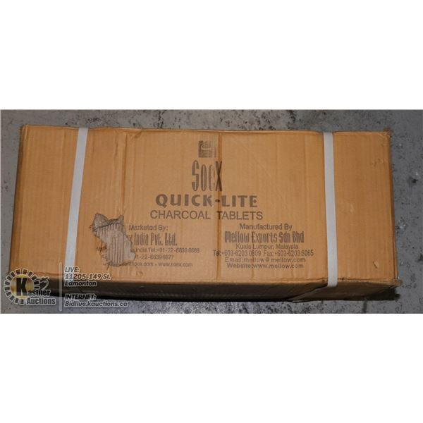 QUICKLITE CHARCOAL TABLETS FOR HOOKAH PIPE.