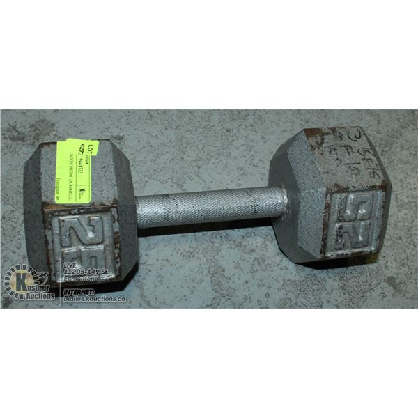 25 LB. HEXAGON METAL DUMBBELL