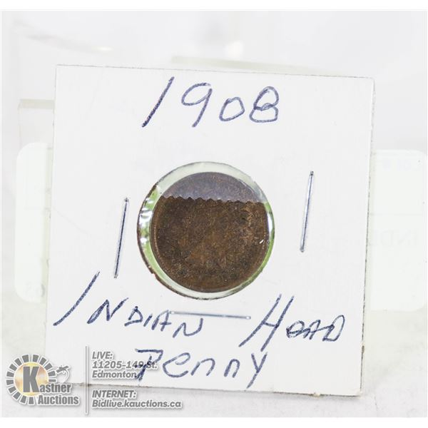 INDIAN HEAD PENNY 1908