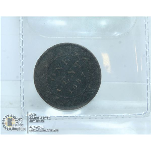 UNCLAIMED CAD 1887 LARGE PENNY