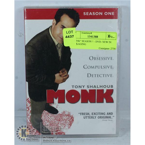 """MONK"" SEASON 1 - DVD- NEW IN PACKAGING"