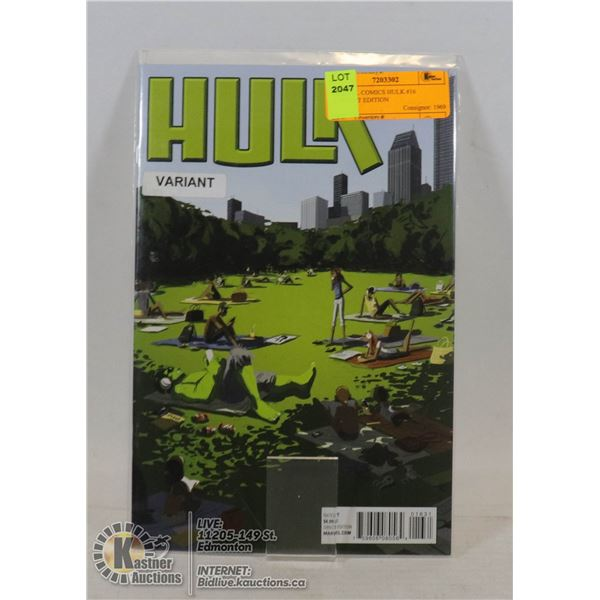 MARVEL COMICS HULK #16 VARIANT EDITION