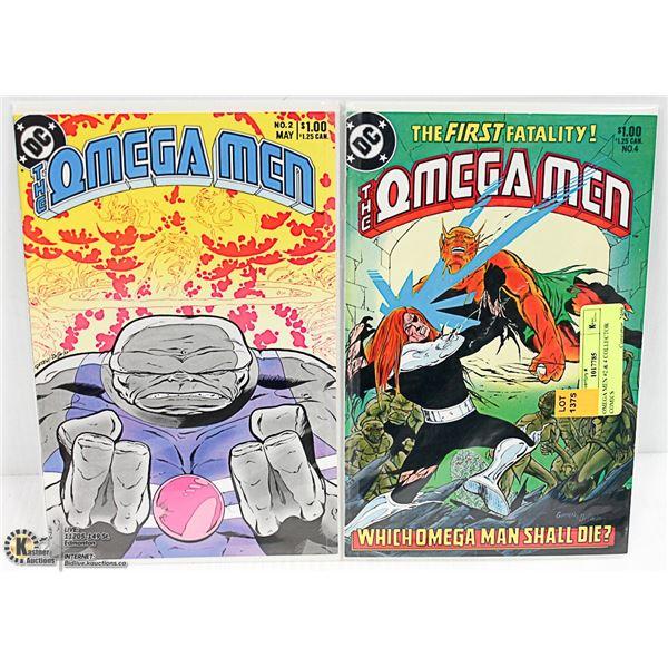 OMEGA MEN #2 & 4 COLLECTOR COMICS