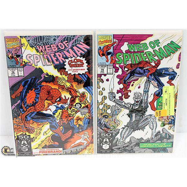 WEB OF SPIDERMAN #78 & 79