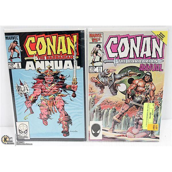 CONAN THE BARBARIAN #'S 8 & 11