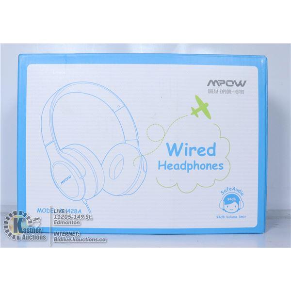 MPOW WIRED HEADPHONES.
