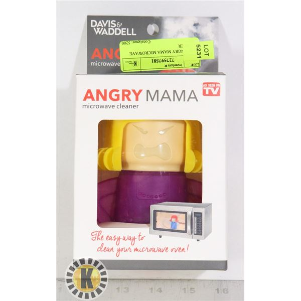 NEW ANGRY MAMA MICROWAVE CLEANER