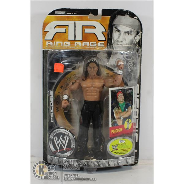 SEALED RING RAGE WWE FIGURE WITH TRADING CARD