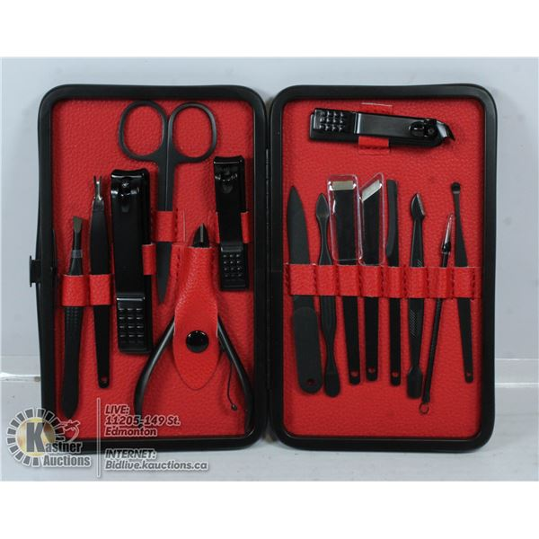 KEIBY CITOM COMPLETE NAIL CARE KIT IN LEATHER CASE