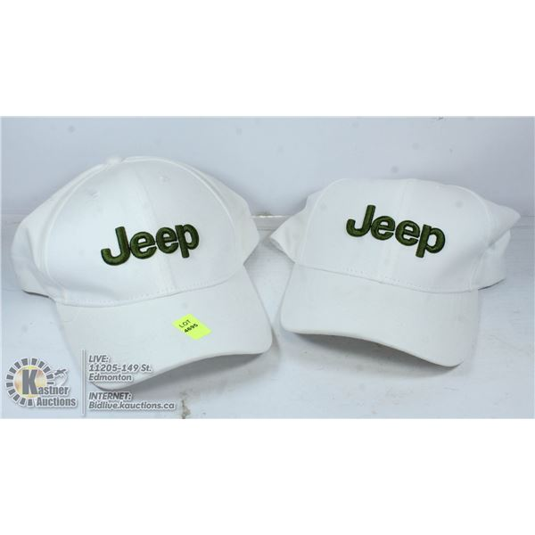 TWO NEW JEEP HATS.