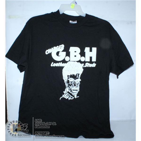 CHARGED GBH BAND TEE. SIZE LARGE.