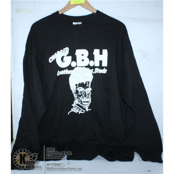 CHARGED GBH BAND LONG SLEEVE TEE. SIZE EXTRA LARGE