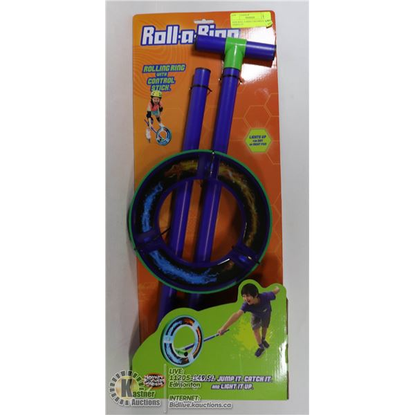 NEW ROLL-A-RING CHILDRENS TOY - LIGHTS UP
