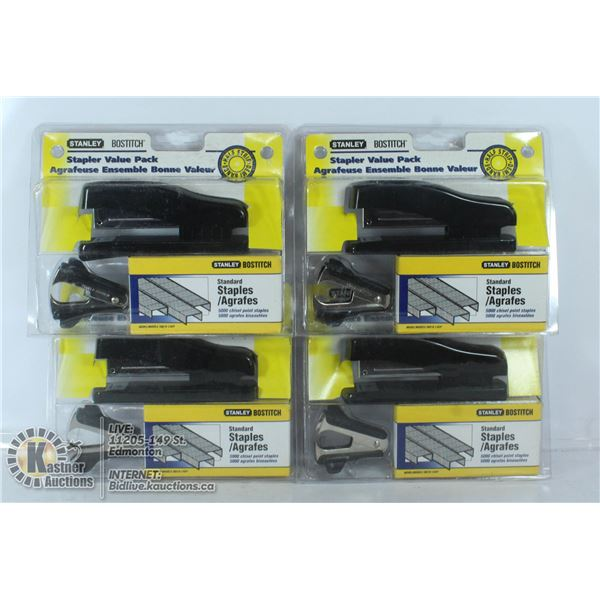 BOX OF NEW STAPLERS SETS