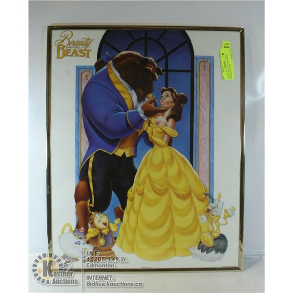 DISNEY BEAUTY & THE BEAST FRAMED PICTURE