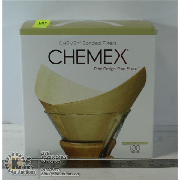 CHEMEX BONDED FILTERS GIVES BETTER RICHER FLAVOUR