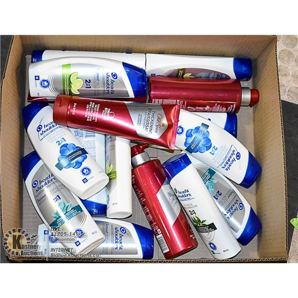 FLAT OF MOSTLY HEAD AND SHOULDERS PRODUCTS
