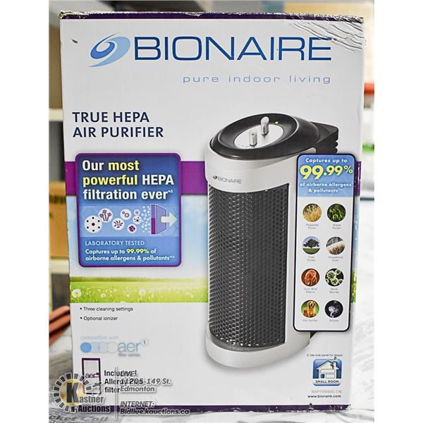 BIONAIRE TRUE HEPA  AIR PURIFIER