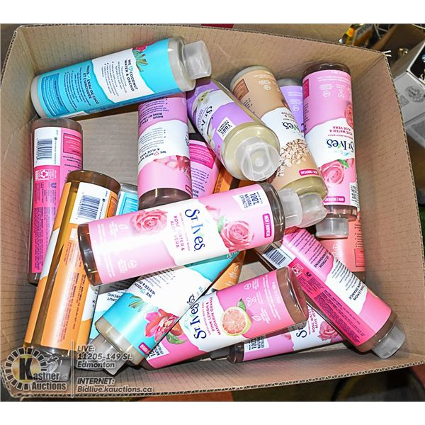 BOX OF SKIN CARE PRODUCTS
