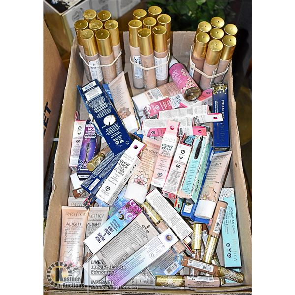 FLAT LOT OF BRAND NAME MAKEUP PRODUCTS