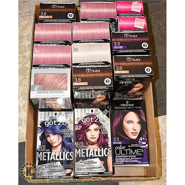 FLAT LOT OF HAIR DYE PRODUCTS