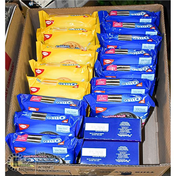 FLAT LOT OF OREO COOKIE PRODUCTS