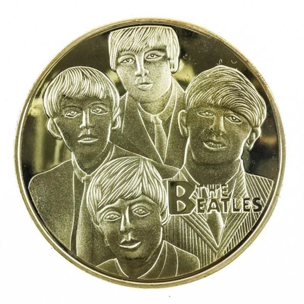 The Beatles - Limited Edition 24kt Gold Foil  Collectible Medallion w/ 8x10  Giclee Art  Card