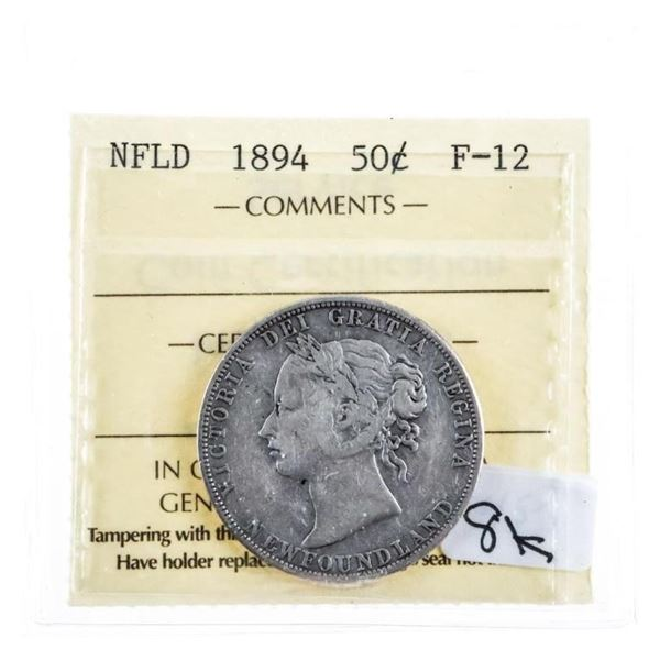 1894 NFLD Silver 50 cents