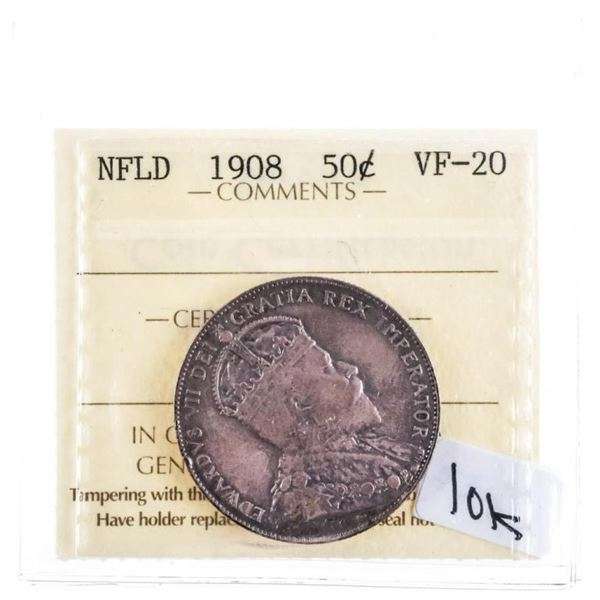 1908 NFLD 50 cents VF 20 ICCS