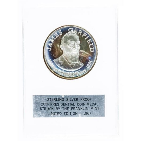 925 Sterling Silver Proof Presidential  Coin-Medal -James Garfield