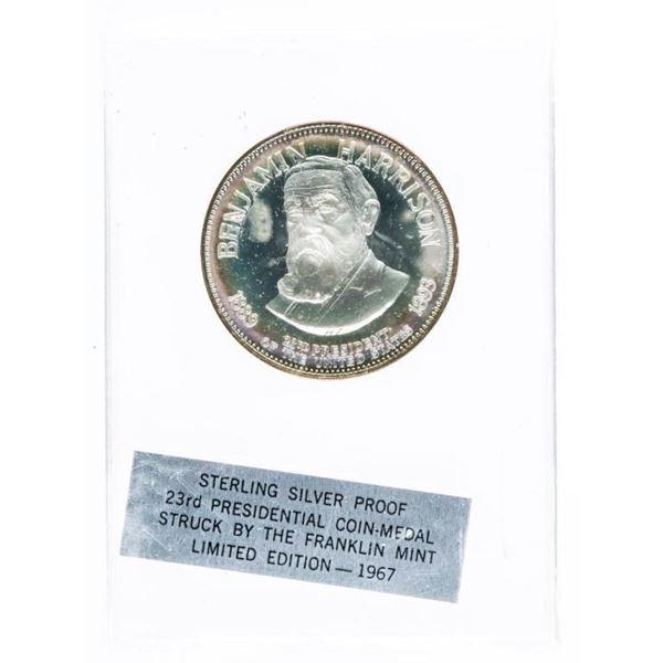 925 Sterling Silver Proof Presidential  Coin-Medal -Benjamin Harrison