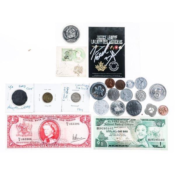 Estate Bag Lot Mixed Coins Medals Etc.